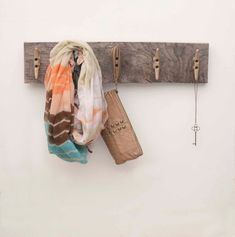 Reclaimed Wood Boat Cleat Coat Rack by geaugaroots on Etsy, $50.00