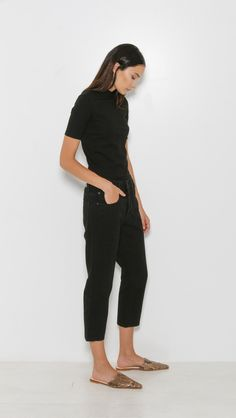 6397 Shorty Jeans in Black Rinse | The Dreslyn