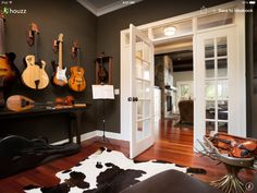 It's the music room after all, may as we'll hang up those guitars.