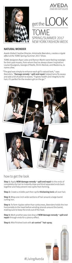 Get the natural, carefree ripple effect created by Aveda Global Creative Director Antoinette Beenders for TOME's NYFW show.