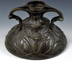 Maurice Dufrene Large Cast Copper Art Nouveau Vase. Love the substance of this, such craftsmanship.