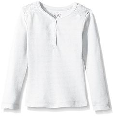 French Toast Girls' V-Neck Henley >>> Check out this great image @ Polo Tees, Program Design, Latest Fashion Trends, Girl Fashion, Tunic Tops, V Neck, Cookware, French Toast, Sweaters