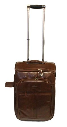 ddae22896e21 Ashwood Knightsbridge Leather Cabin Trolley with laptop Compartment