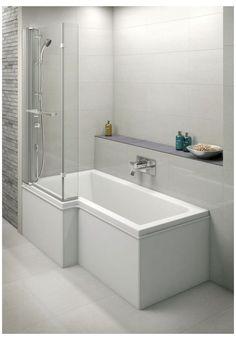 Bath Shower Screens, Shower Over Bath, Tub Shower Combo, Shower Tub, Shower Tower, Bathroom Layout, Bathroom Interior, Bathroom Ideas, Family Bathroom