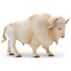 This is a White Buffalo Wildlife Figure that's produced by Safari. Safari is very well known for making high quality, hand painted, and realistic figures of things from the natural world. The White Bu