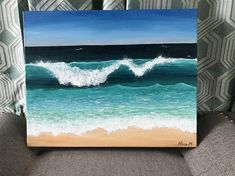 What is Your Painting Style? How do you find your own painting style? What is your painting style? Beach Canvas Paintings, Seascape Paintings, Landscape Paintings, Painting Art, Acrylic Wave Painting, 3 Canvas Painting Ideas, Acrylic Art Paintings, Ocean Wave Painting, Blue Painting
