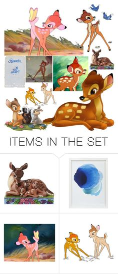 """""""Bambi"""" by patronus-moony-padfoot ❤ liked on Polyvore featuring art, Collage, disney, deer and bambi"""