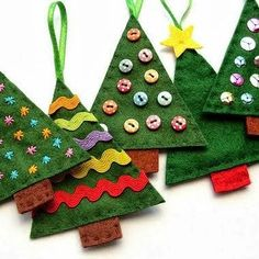 Crafting - Felt Christmas Tree How To