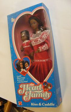 Mattel Heart Family Kiss and Cuddle African American Doll Pair MIB NEW