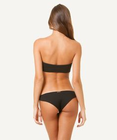 aeb97194b2 Sofia by ViX Solid Black Rio Neoprene Brazilian Cheeky Bikini Bottom XS for  sale online | eBay