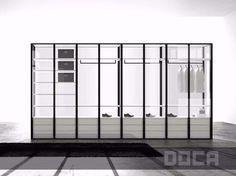 Armario de vidrio LEACH TRANSPARENTE by Doca