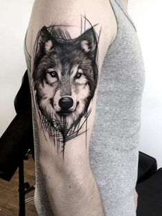 55 Best Arm Tattoo Ideas for Men - Side Arm Wolf Tattoos - Wolf Tattoo Design, Tattoo Design Drawings, Tattoo Designs Men, Sketch Tattoo, Wolf Tattoos Men, Tattoos Arm Mann, Arm Tattoos For Guys, Body Art Tattoos, Wolf Tattoo Sleeve