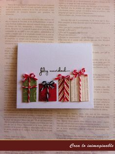 Te traemos 3 opciones de tarjetas muy navideñas, una inspiración para que comiences a crear bellos detalles para esta navidad, no olvides dejar tu comentario para la comentarista del mes !