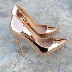 VINAPOBO Pointed Toe Gold high heels pumps Shoes Patent Leather Prom Wedding party Thin heels Shoes Large Size Spring New High Heels Boots, Pumps Heels, Heeled Boots, Stiletto Heels, Shoe Boots, Gold High Heels, Nude Heels, Sexy High Heels, High Heel Pumps