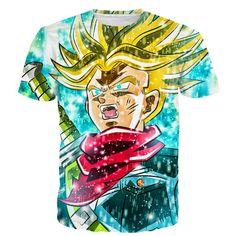 Men's 3D Printed Fashion T-shirt Print T Shirts, 3d T Shirts, Cool Shirts, Dragon Ball, New Dragon, Black Zamasu, Trunks Super Saiyan, Galaxy T Shirt, Design T Shirt