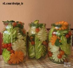 Ну очень хорошо Salad Design, Wooden Jewelry Boxes, Canning Recipes, Preserves, Pickles, Mason Jars, Cabbage, Food And Drink, Fruit