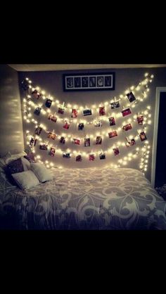 Photo with lights display - idea for Dad's bday