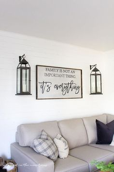 Family is not an important thing, it's everything wood sign. Rustic Sign. Farmhouse Decor. Family Sign. Rustic Decor. Housewarming Gift. #affiliate