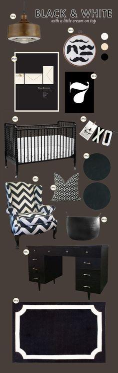 black and white boy nursery