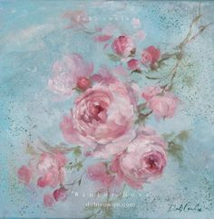 Winter Rose Original Painting By Debi Coules