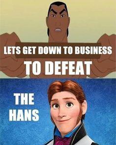 When Disney's Frozen and Mulan collide - LOL!
