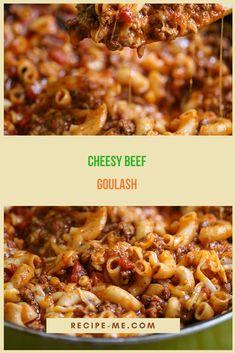 Cheesy Beef Goulash