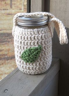 jar cover with handle - crochet free pattern