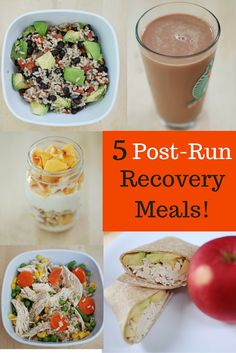 Recover Right: 5 Inexpensive Post-Run Meals & Snacks - Snacking in Sneakers - - Confused about what to eat after a long run? Find recommendations on carbohydrate and protein intake here, plus 5 post-run meals (or snacks) you can make! Post Workout Nutrition, Post Workout Snacks, Fitness Nutrition, Nutrition Education, Food For Workout, Gym Workouts, Workout Meals, Sports Nutrition, Nutrition Tips
