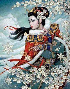 OrientaL Winter Majesty Cross Stitch Pattern***L@@K***$4.95 CLICK VISIT TO SEE PATTERN FORSALE