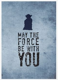 Star Wars May The Force Be With You A3 Poster by Posterinspired