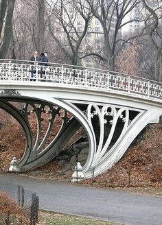 "Often called ""Gothic Bridge"" because of its reference to Gothic design, it is officially known as Bridge No. 28, Central Park, NYC"