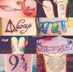 Harry potter tattoos ❤️