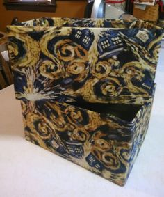 Dr.Who Tardis Fabric covered boxes! 4-2-16