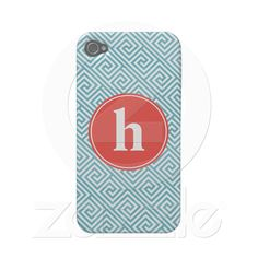 Baby Blue and Orange Greek Key Pattern Monogram Iphone 4 Case-mate Case by heartlockedcases http://www.zazzle.com/baby_blue_and_orange_greek_key_pattern_monogram_case-179027730620211548 #zazzle