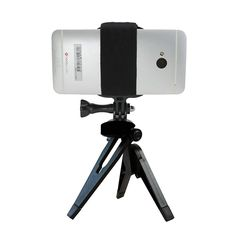 Amazon.com: Action Mount® - Foldable Tripod with Smartphone Mount. Use for Video Recording, Timelapse, or Take Photos. Operable with Any Phone, or Use with GoPro Camera. Compatible with iPhones, Samsung Galaxy, HTC, etc. Doubles as Hand-Held Mount for Video Stabilization.: Electronics