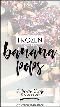 Banana Friday: Frozen Banana Pops - The Inspired Apple