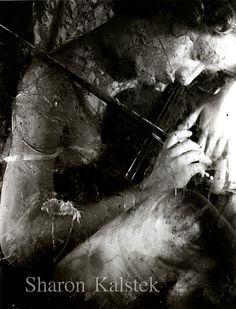 Violin Player Photograph Black and White Surreal Dreamy Woman Violin Soft Romantic Art Photograph Wall Decor 8x10 via Etsy