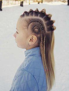 46 Amazing Swirled Cornrows and Bubble Braid Mohawk Hairstyles 2018