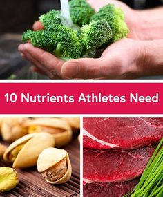 Certain nutrients are vital for your muscles to work efficiently.