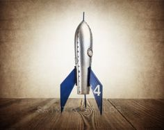 Silver and Blue Space Rocket 4 -  Cool Rockets