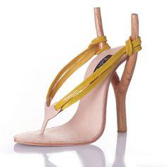 """High heel flip flop """"Slingshot"""" shoes by Kobi Levi"""