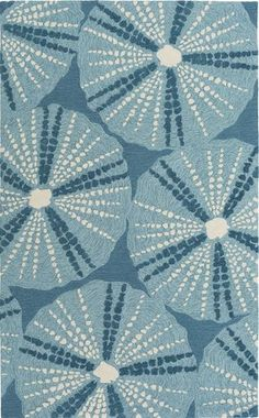 Whimsical new Pescadaro rug from Surya in fresh shades of teal, sky blue and ivory - perfect addition to a coastal mod home! (PSD-4000)