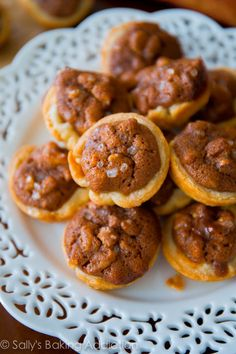 Learn how to make Salted Pecan Pie Tarts from scratch | sallysbakingaddiction.com @Sally [Sally's Baking Addiction]