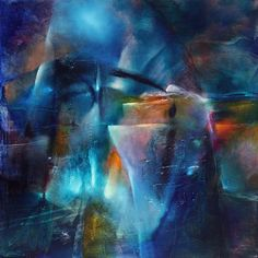 """Winternacht"" by Annette Schmucker, Abstract art, Landscapes: Winter, Painting Contemporary Abstract Art, Modern Art, Landscape Artwork, Abstract Canvas Art, New Art, Art Gallery, Winter Night, Winter Time, Art Work"