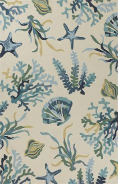 Harbor Blue Oceania Indoor Outdoor Rug