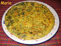 Tortilla de acelgas, champiñones y lazos de pasta. Ver la receta http://www.mis-recetas.org/recetas/show/38023-tortilla-de-acelgas-champinones-y-lazos-de-pasta