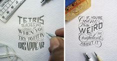 Meet Dexa Muamar, an Indonesian artist who intricately letters meaningful phrases on the micro scale. Titled Tiny Masterworks, these drawings are at present just a hobby for Muamar, who is finishing a BA in Economic Development. When someone asked Muamar what drives him to lettering, despite his other pursuits, this is what he said.