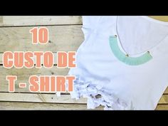 10 idées DIY de customisation de tee-shirt par YouMakeFashion - customisation de vêtements - YouTube                                                                                                                                                     Plus