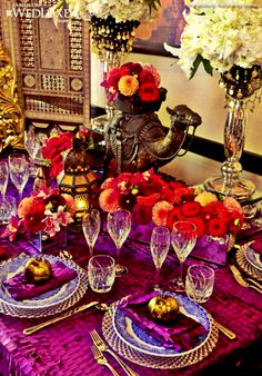 Moroccan tablescape...
