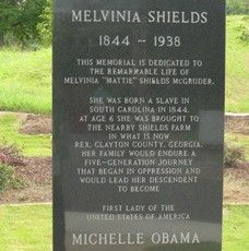 This monument in Rex, Georgia, is dedicated to Melvinia Shields, a slave during the Civil War and the great-great-great grandmother of Michelle Obama.